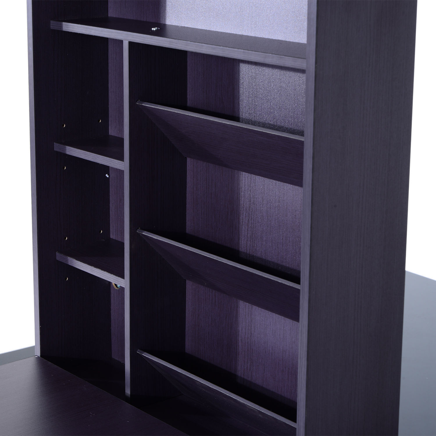 Wall-Mount-Writing-Table-Convertible-Folding-Computer-Desk-Storage-Home-Office thumbnail 9