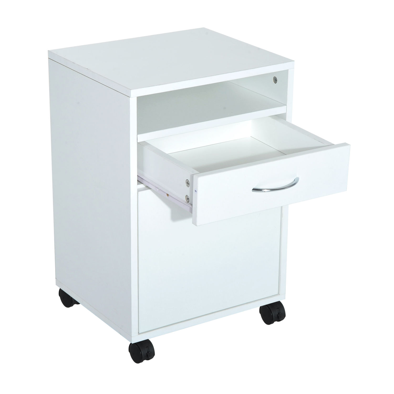 Rolling Filing Cabinet Storage W/ Drawer & Shelf Home ...