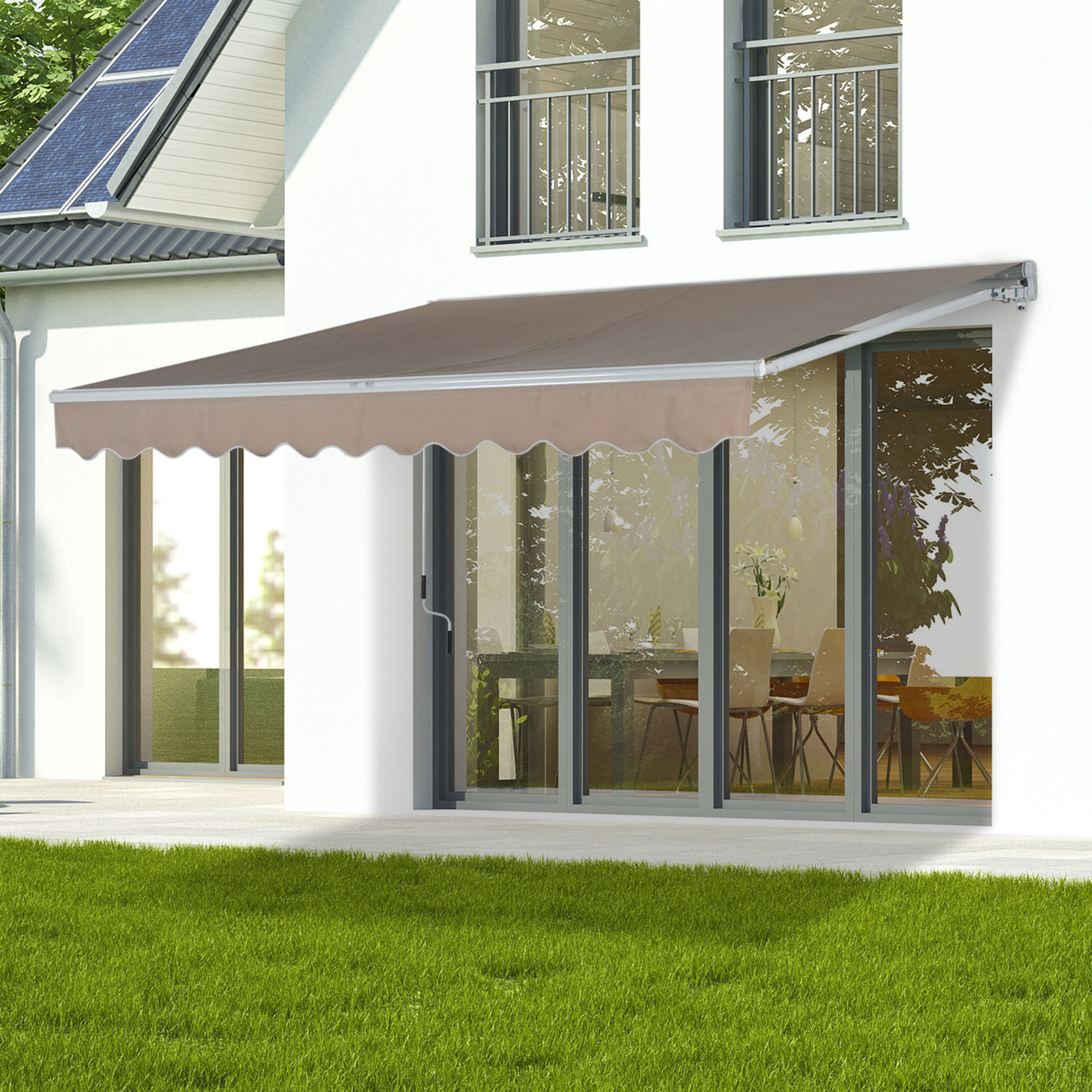 Patio-Awning-Canopy-Retractable-Deck-Door-Outdoor-Sun- & Patio Awning Canopy Retractable Deck Door Outdoor Sun Shade ...