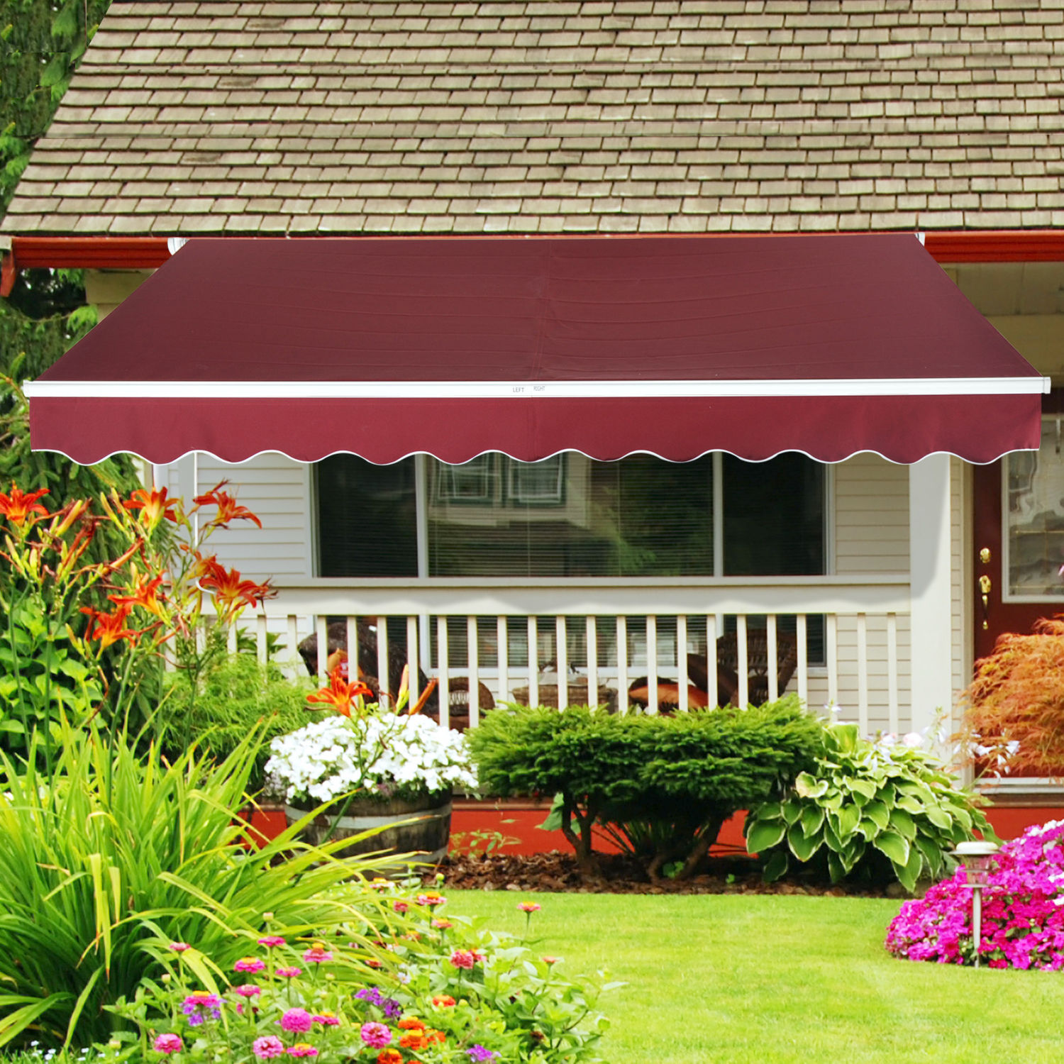 Patio-Awning-Canopy-Retractable-Deck-Door-Outdoor-Sun- : sun canopies for patios - memphite.com