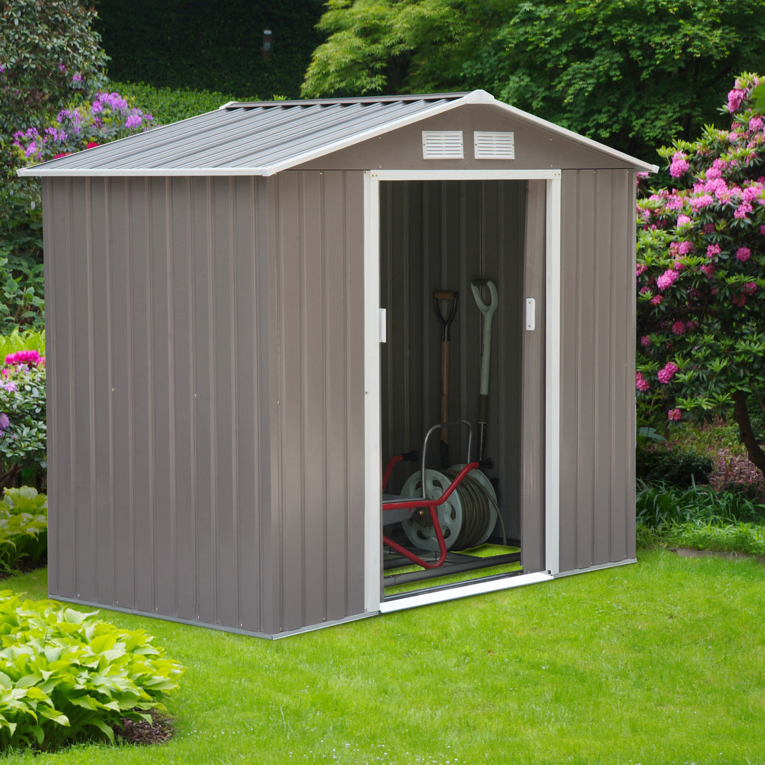 Details about 7'x4' Steel Outdoor Garden Storage Shed All Weather Tool on outdoor pool designs, wood playhouse designs, cool playhouse designs, outdoor studio designs, outdoor garage designs, outdoor cottage designs, indoor playhouse designs, outdoor shopping designs, playhouse plans and designs, playhouse printable designs, outdoor arena designs, outdoor furniture designs, outdoor playset designs, outdoor playground designs, outdoor garden designs, outdoor house designs, outdoor patio designs, outdoor fireplaces designs, outdoor office designs, outdoor shed designs,