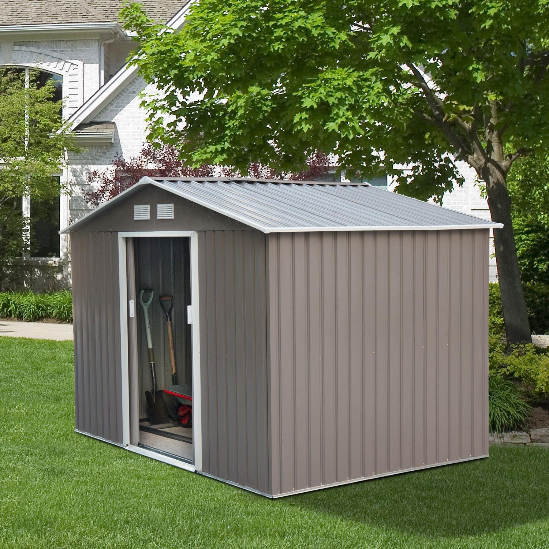 Details About 9 X6 Garage Metal Garden Storage Shed Steel Tool Utility House Backyard