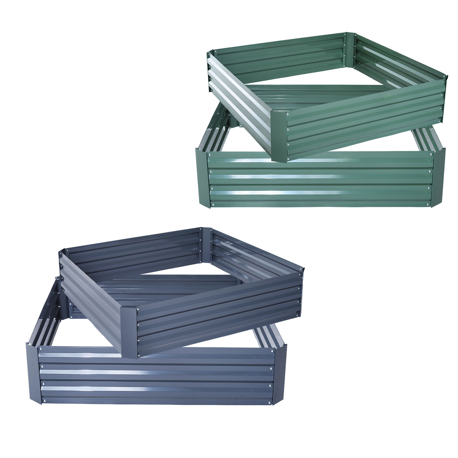 Picture of: 2pc 24×24 Galvanized Metal Raised Vegetable Garden Bed Plant Box Growing Flowers Ebay