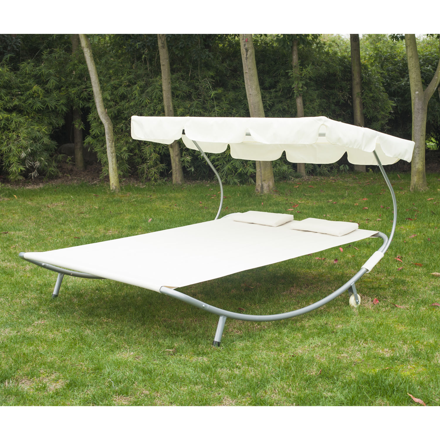 w sunshade patio with hg bi canopy swing beige beach backyard yard outdoor hammock shade itm sunroof