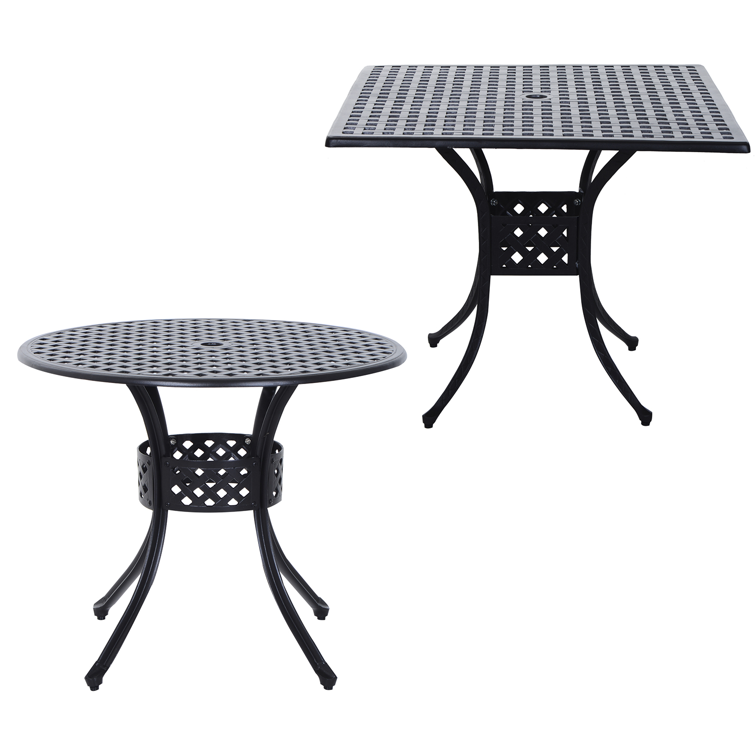 Amazing Details About Square Round Cast Aluminum Outdoor Dining Table Garden Patio Furniture Black Theyellowbook Wood Chair Design Ideas Theyellowbookinfo