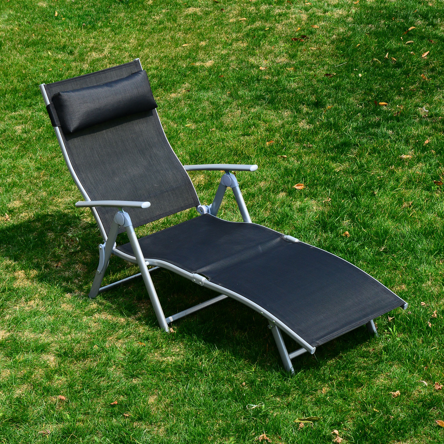 Chaise Lounge Chair Folding Pool Beach Yard Adjustable Patio
