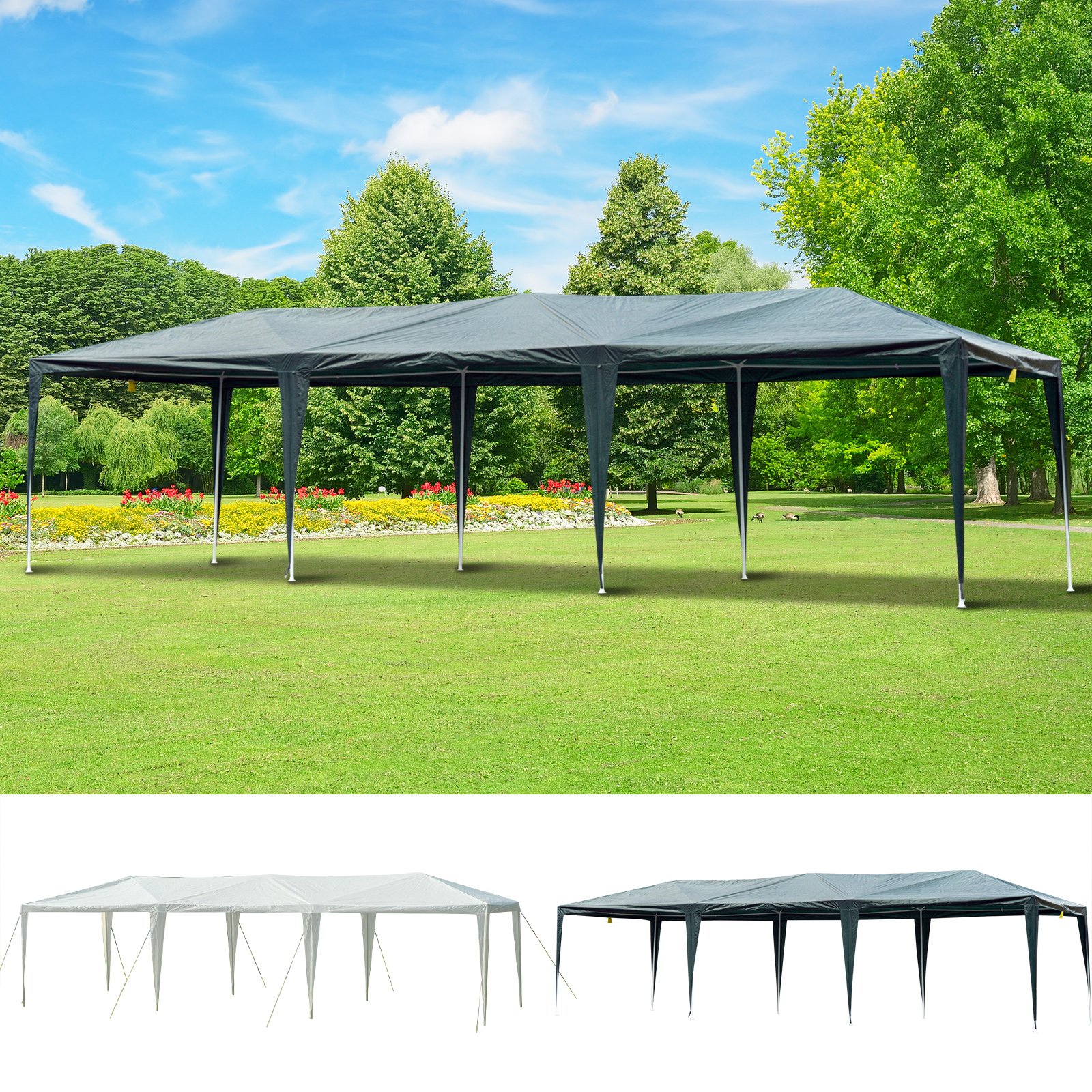 Genial Details About 10u0027 X 30u0027 Gazebo Canopy Cover Party Tent With Removable Mesh  Side Walls Patio