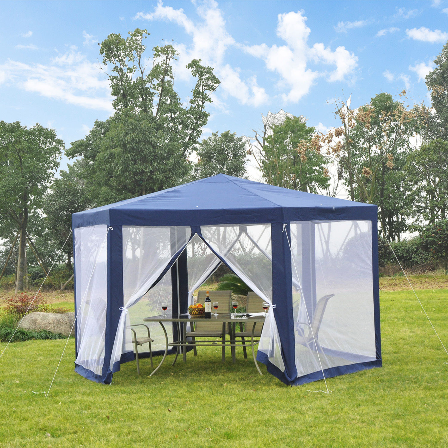 Hexagonal Patio Gazebo Outdoor Canopy Party Tent Activity Event w