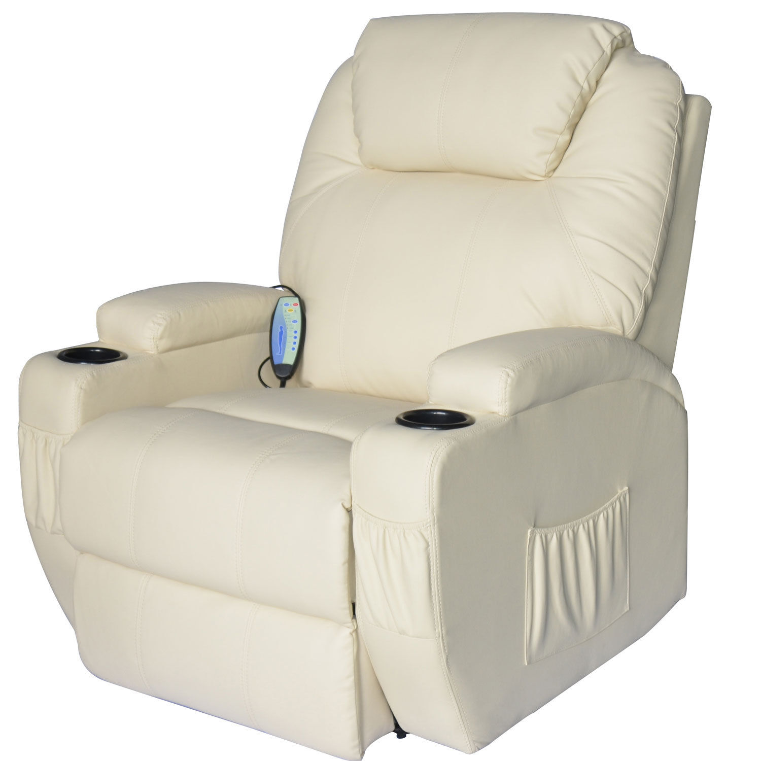 Massage-Recliner-Sofa-Leather-Vibrating-Heated-Chair-Lounge-Executive-w-Control