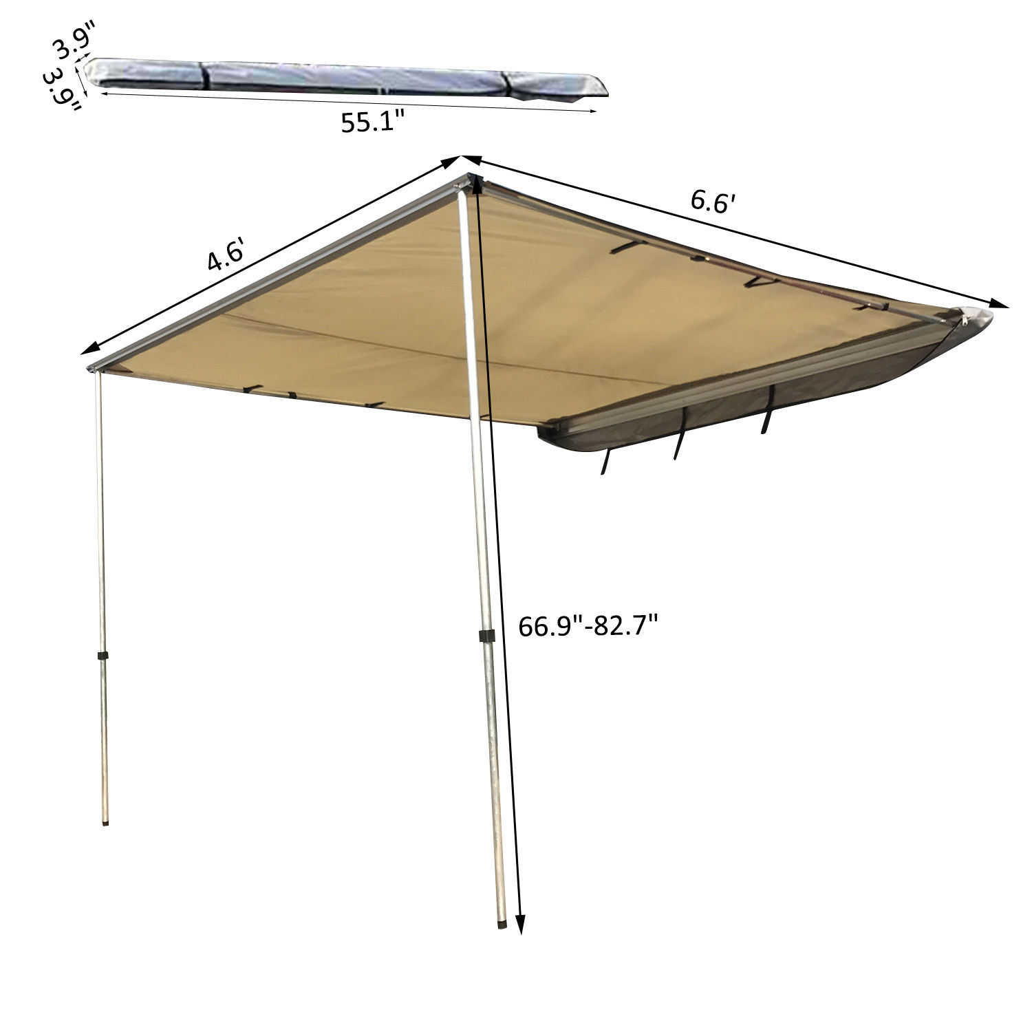 SUV Car Roof Top Tent Shelter Truck Camping Family Travel Awning