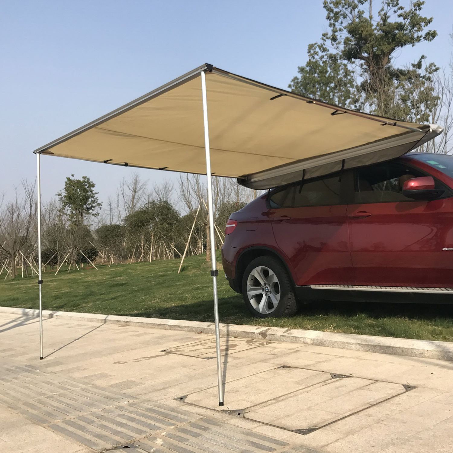 Detalles acerca de SUV Car Roof Top Tent Shelter Truck C&ing Family Travel Awning Canopy Sunshade & SUV Car Roof Top Tent Shelter Truck Camping Family Travel Awning ...