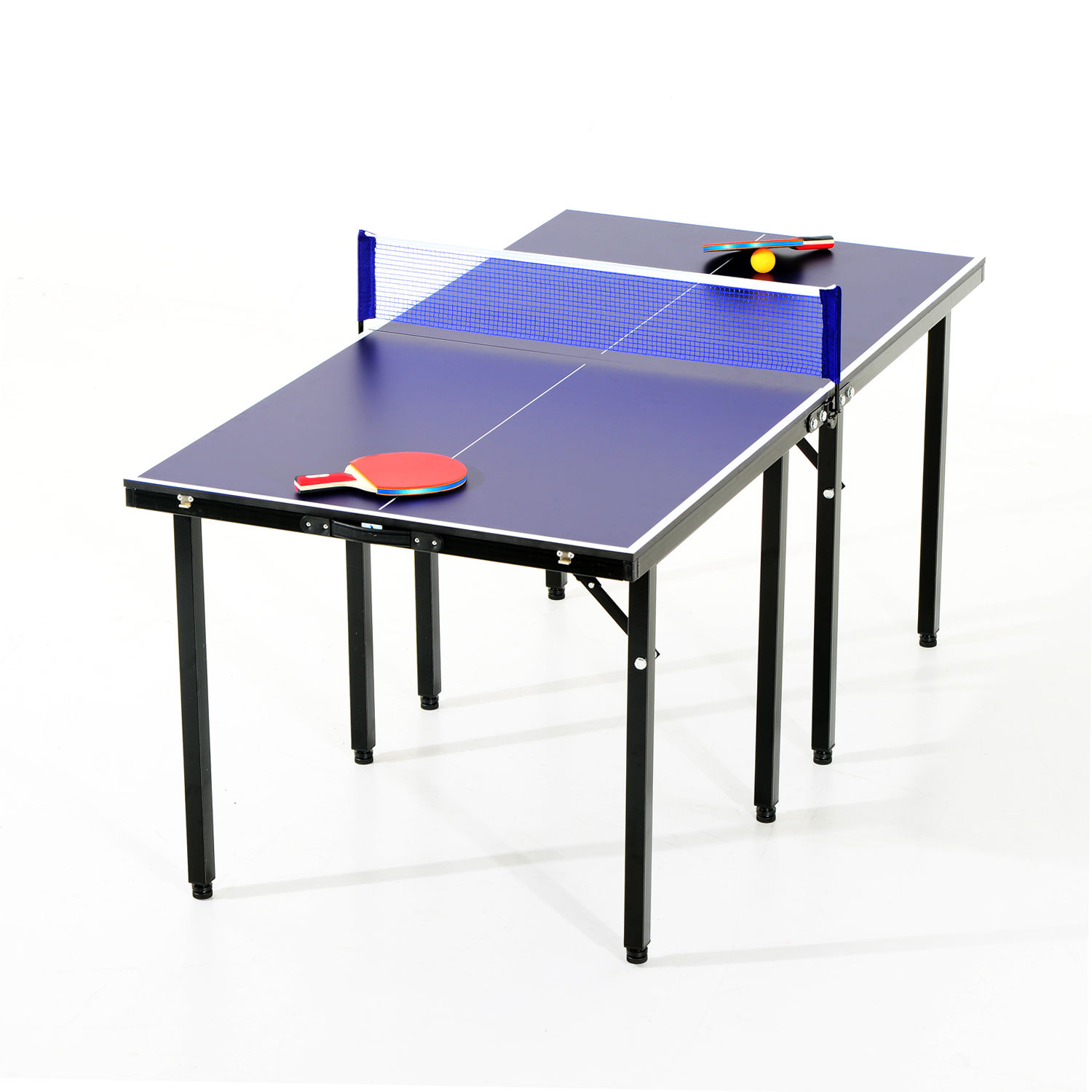Portable Folding Ping Pong Table Set Tennis Table Indoor Game w/Paddles u0026 Balls  sc 1 st  eBay & Portable Folding Ping Pong Table Set Tennis Table Indoor Game w ...