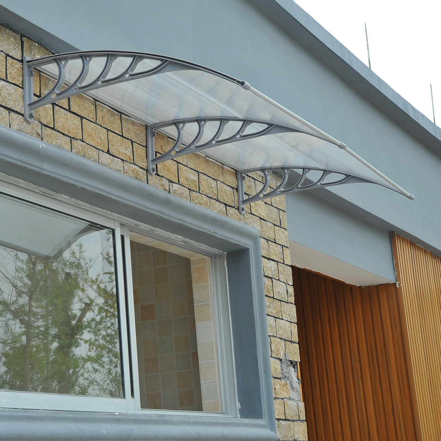 Outdoor Polycarbonate Front Door Window Awning Patio Canopy