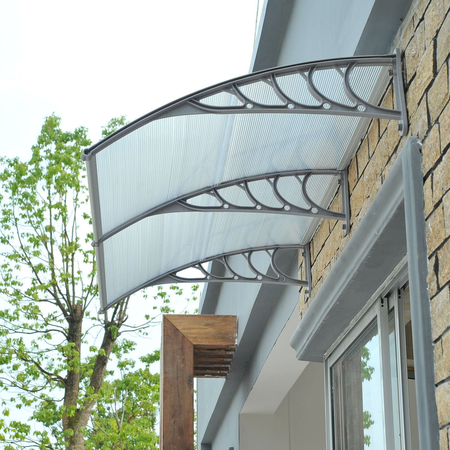 Canopies Canopy And Front Door Glass And: Outdoor Polycarbonate Front Door Window Awning Patio