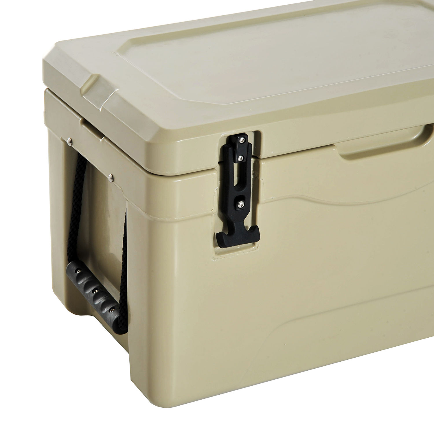 food rotomolded cooler ice chest box cold drinks camping hiking w handle ebay. Black Bedroom Furniture Sets. Home Design Ideas
