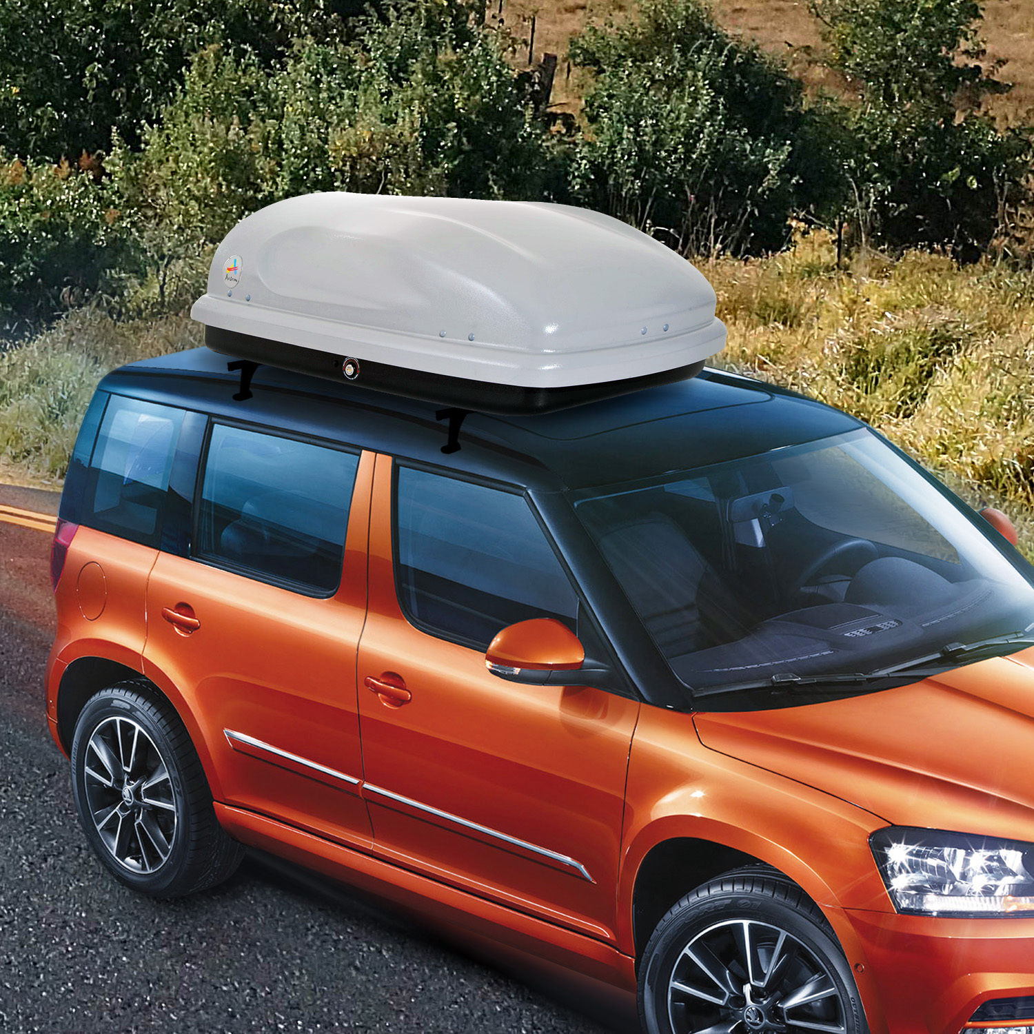 7 Cu Ft Cargo Box Car Roof Top Carrier Travel Luggage Storage