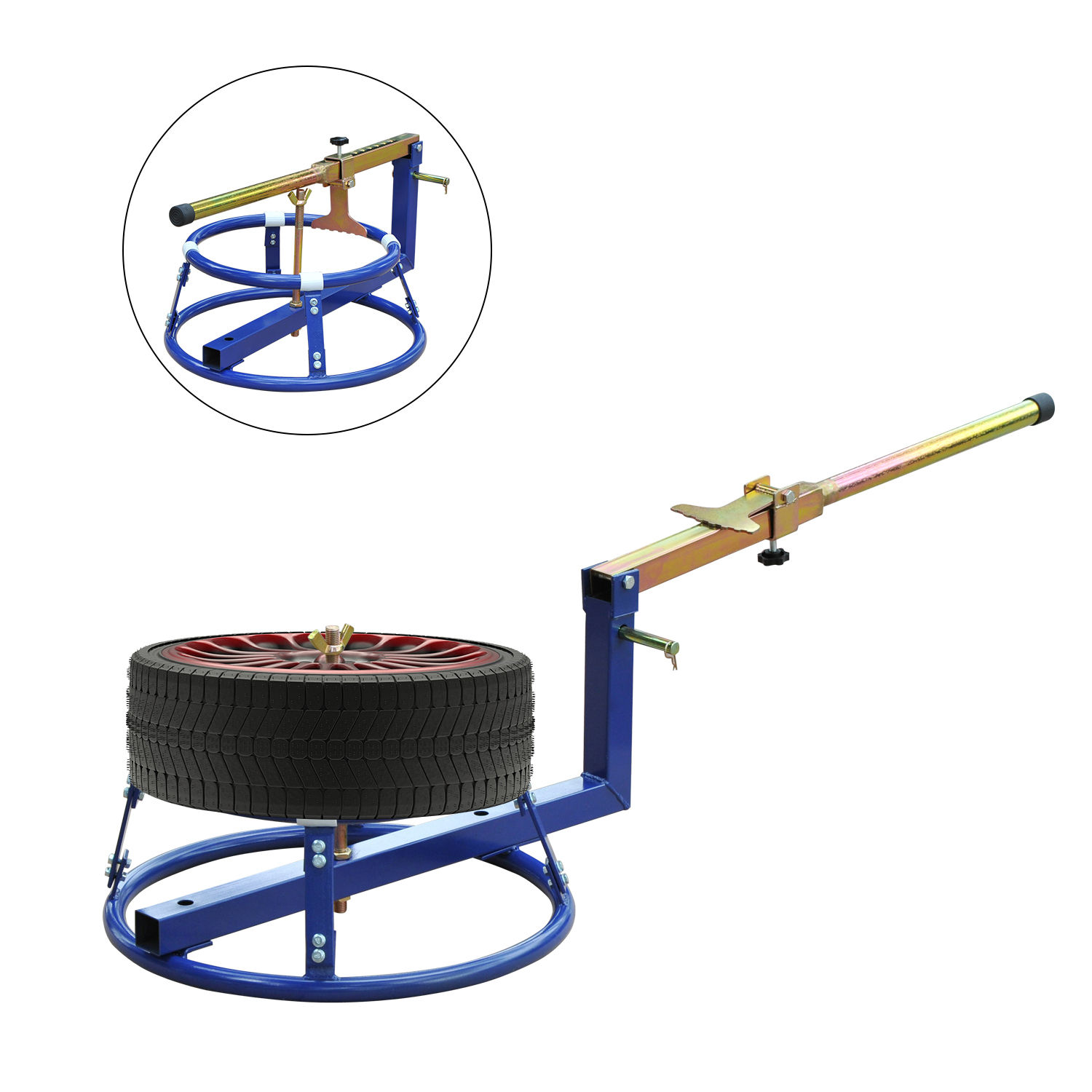 Tusk Adjustable Height Motorcycle Tire Changing Stand-Motorcycle