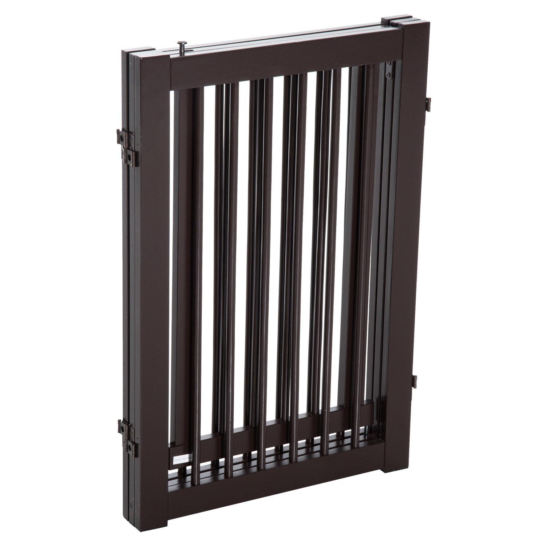 30 Quot Panel Wooden Folding Indoor Pet Dog Gate Freestanding