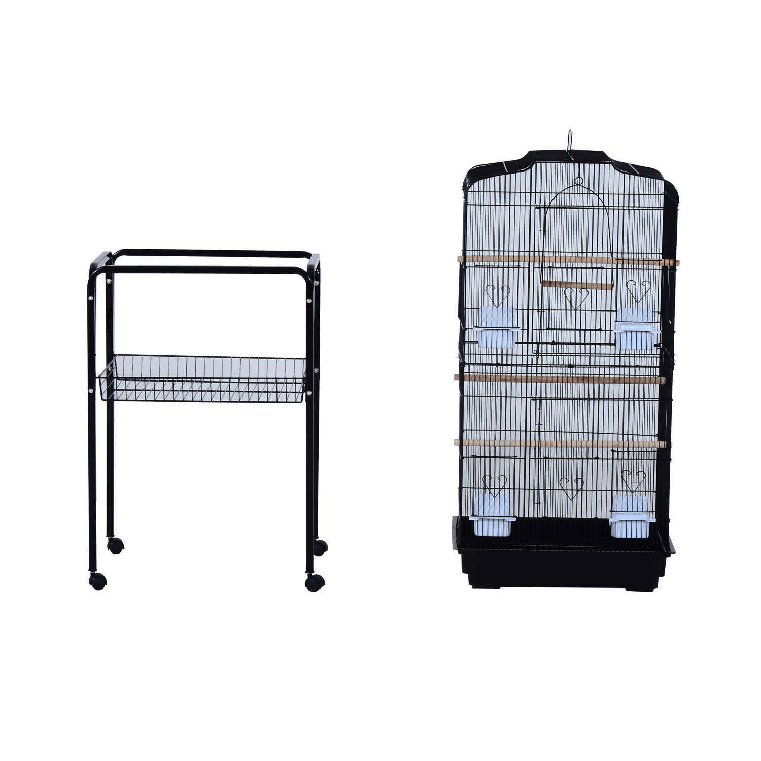 Bird-Cage-63-034-Large-Finch-Parrot-Conure-Metal-Wheels-Play-Top-House-Pet-Supplies thumbnail 4