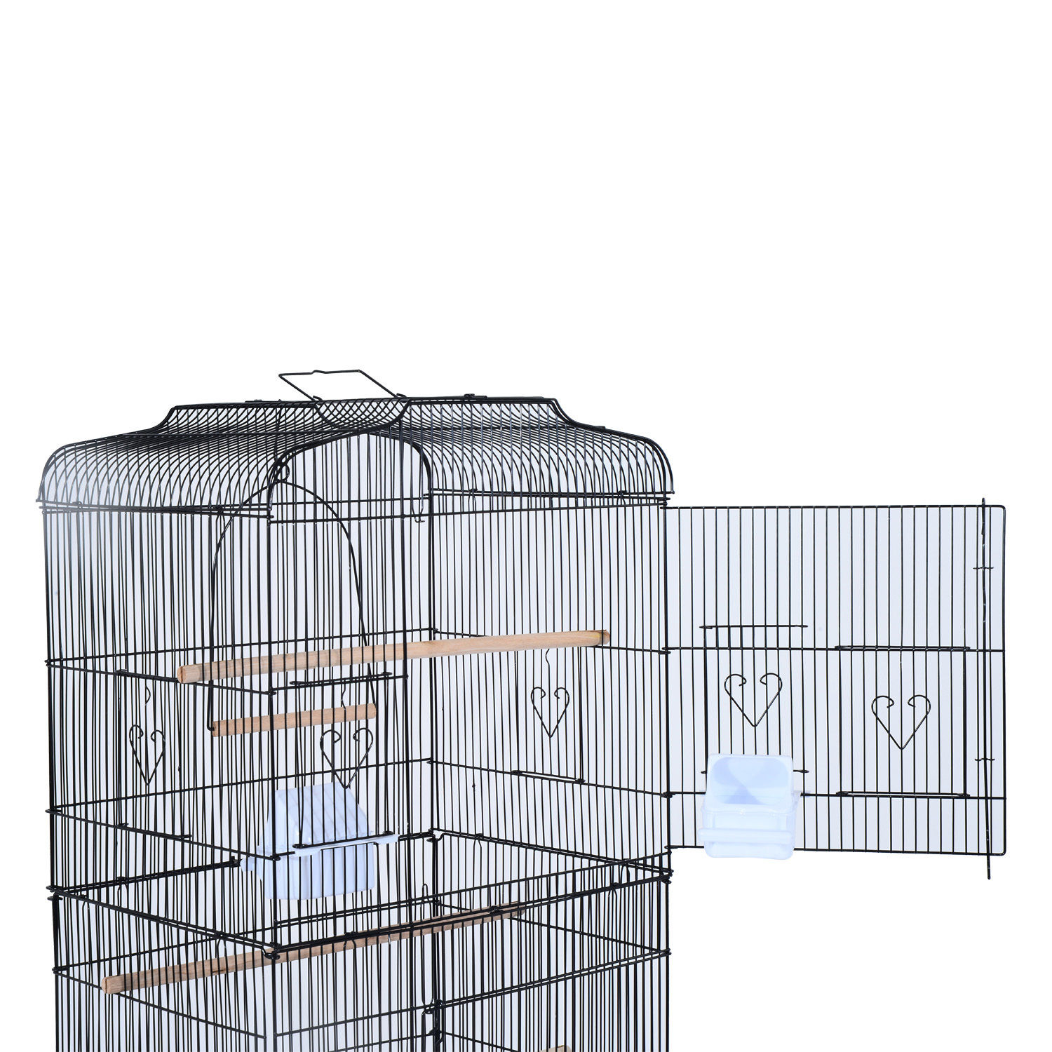 Bird-Cage-63-034-Large-Finch-Parrot-Conure-Metal-Wheels-Play-Top-House-Pet-Supplies thumbnail 5