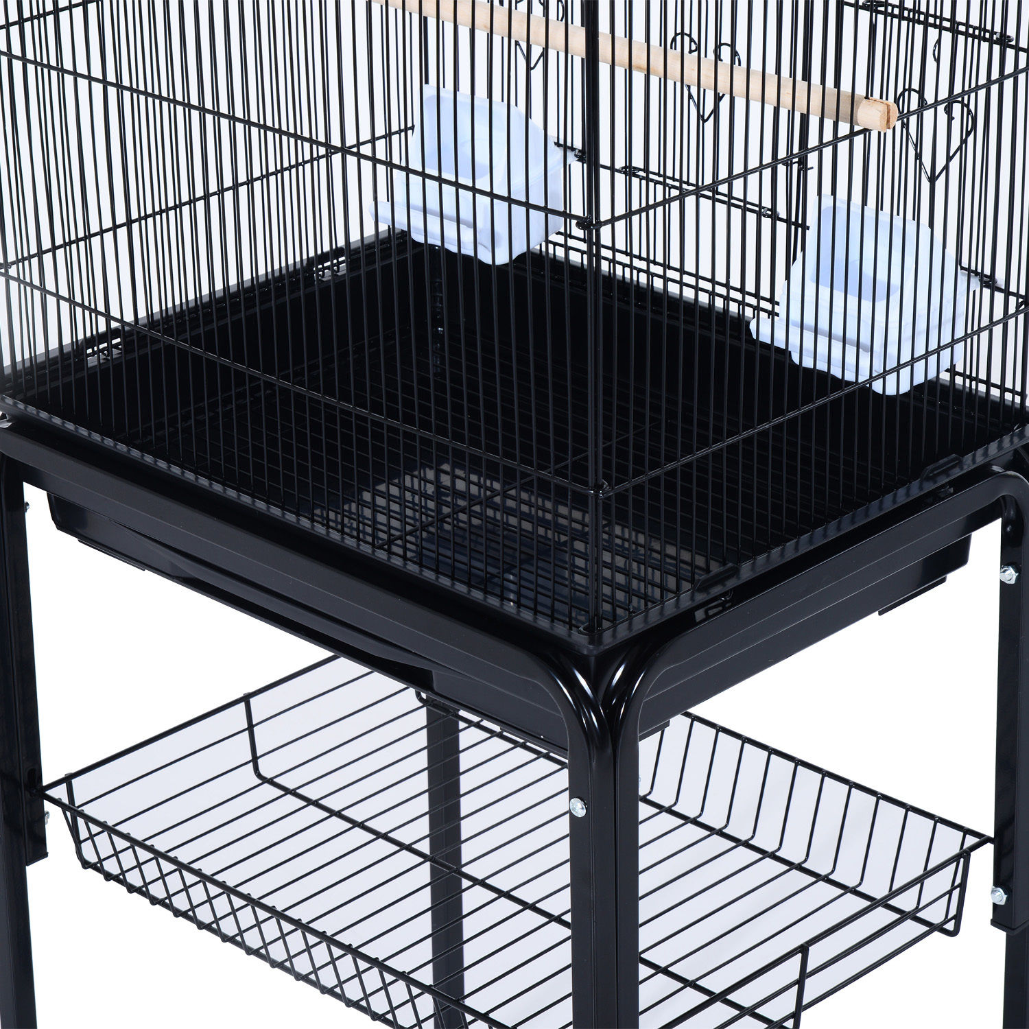 Bird-Cage-63-034-Large-Finch-Parrot-Conure-Metal-Wheels-Play-Top-House-Pet-Supplies thumbnail 6