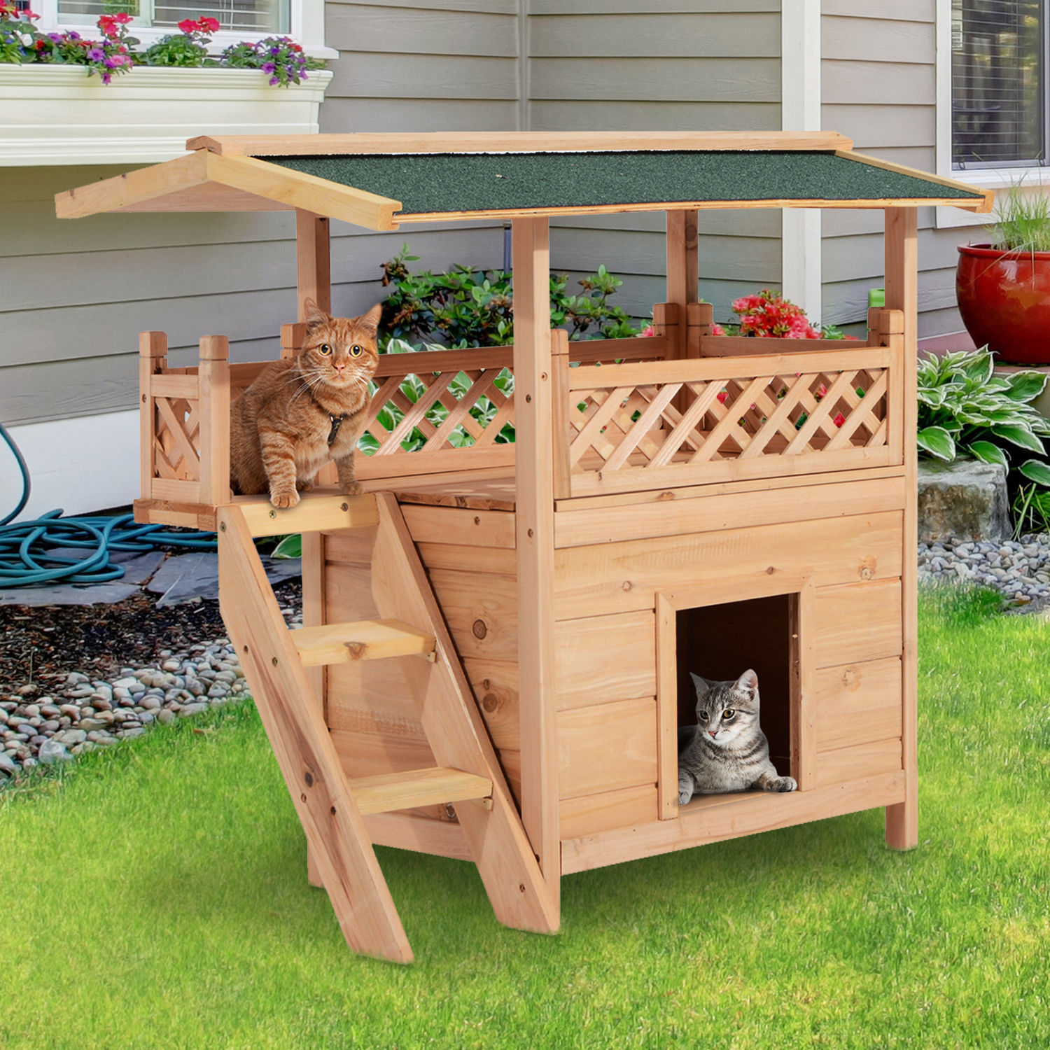 Wooden Pet House Cat Room Dog Puppy Large Kennel Indoor