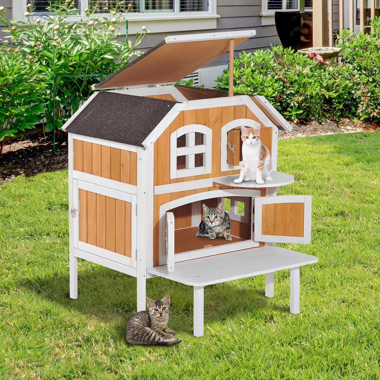 Raised Outdoor Cat House