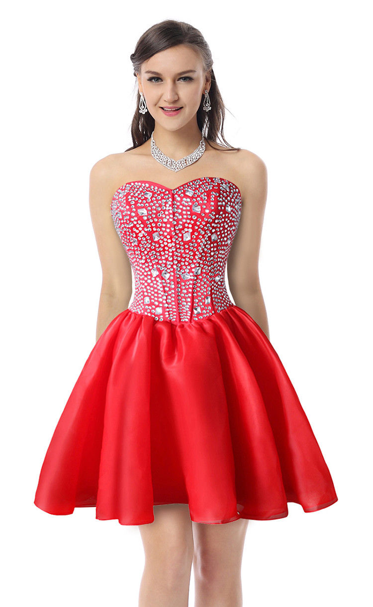 2018 Empire Waist Crystal Short Sweet 16 Homecoming Cocktail Party ...