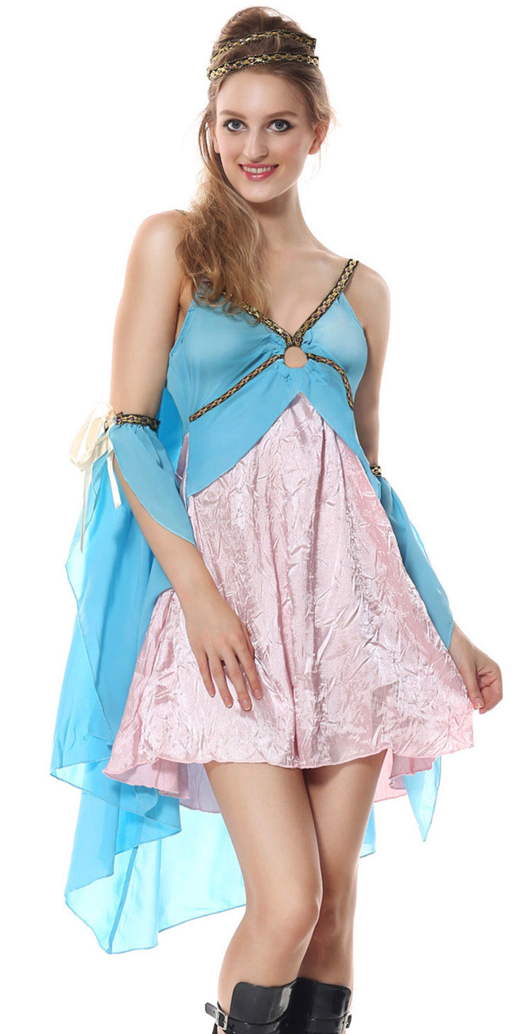 Women Greek Goddess Athena Adult Halloween Party Costume Fancy Dress ...