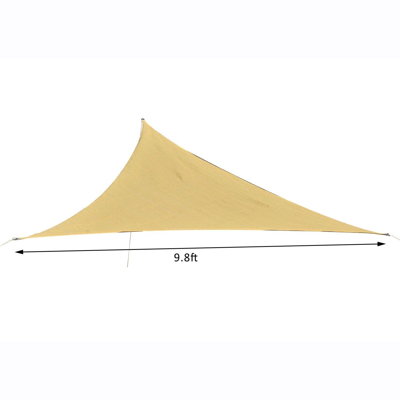 Outsunny-Triangle-10-039-Patio-Canopy-Sun-Sail-Shade-Garden-Party-Cover-Outdoor thumbnail 15