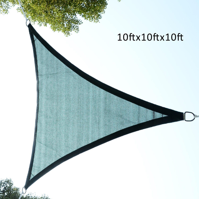 Outsunny-Triangle-10-039-Patio-Canopy-Sun-Sail-Shade-Garden-Party-Cover-Outdoor thumbnail 3