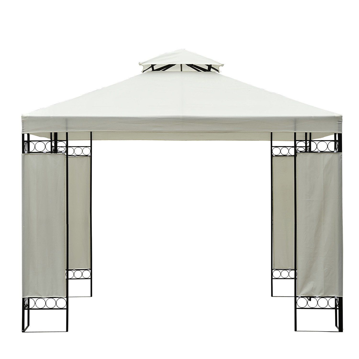 10-x-10-039-Double-Tier-Replacement-Canopy-Top-Patio-Pavilion-Gazebo-Sunshade-Cover miniature 4