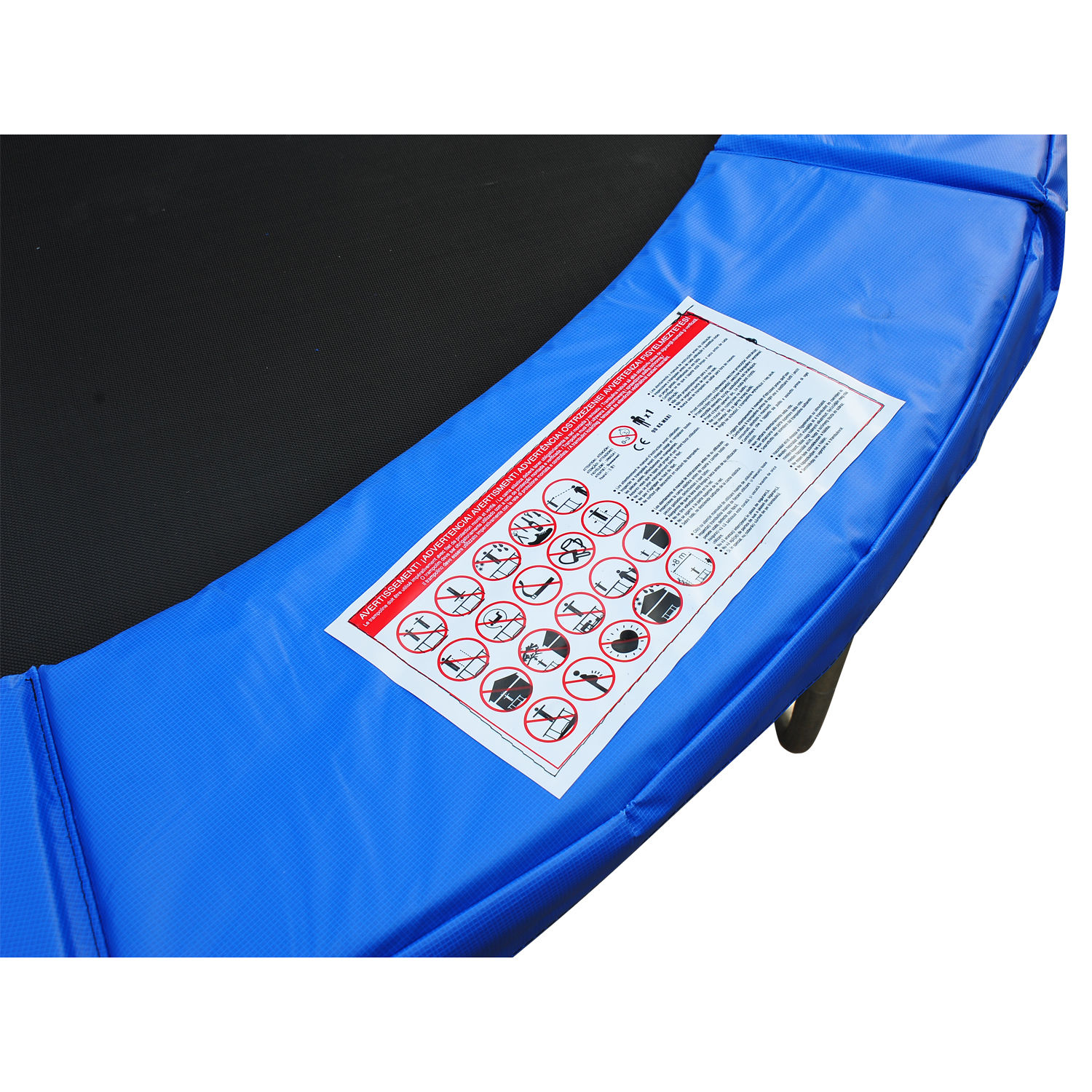 8ft-Trampoline-Pad-Spring-Safety-Replacement-Gym-Bounce-Jump-Cover-EPE-Foam thumbnail 6
