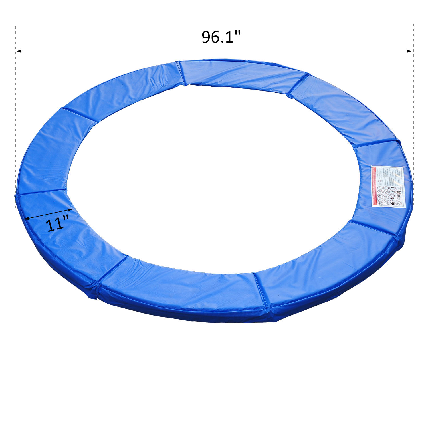 8ft-Trampoline-Pad-Spring-Safety-Replacement-Gym-Bounce-Jump-Cover-EPE-Foam thumbnail 3