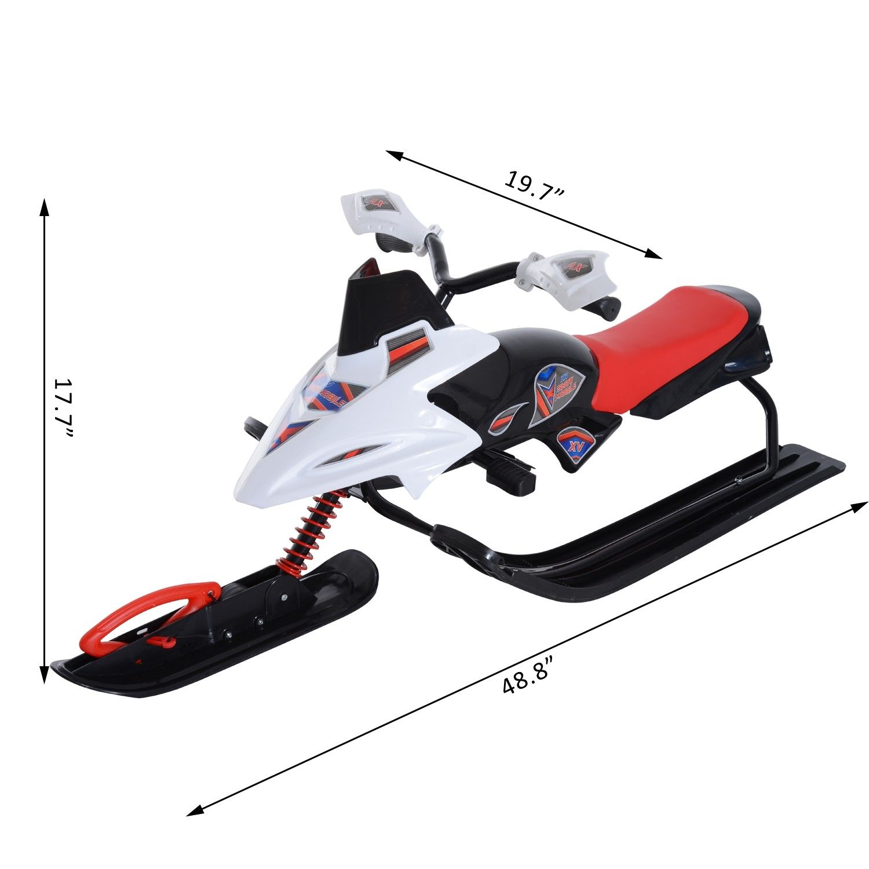 Snow-Mobile-Scooter-Winter-Sled-Motor-Snow-Racer-Rush-Sledge