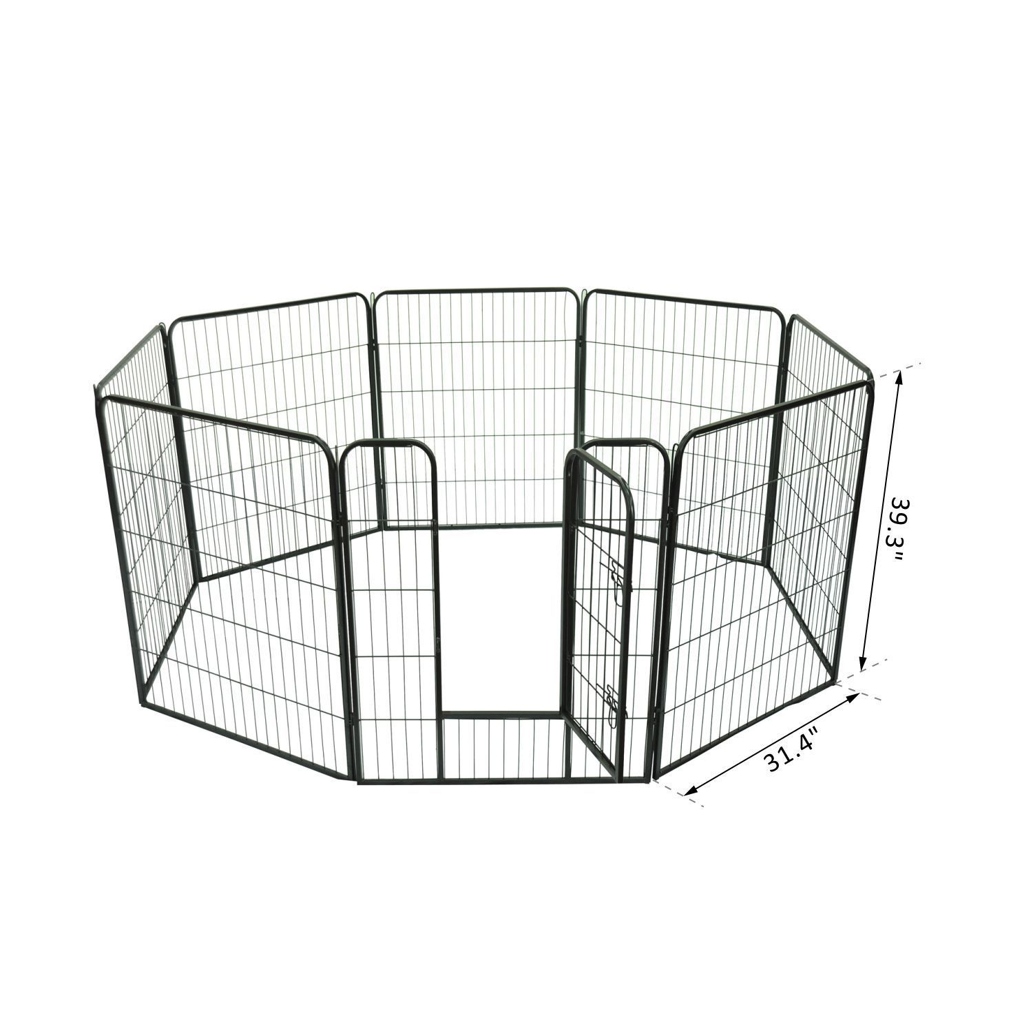 Heavy-Duty-Pet-Playpen-Dog-Exercise-Pen-Cat-Fence-Black-8-Panel-24-034-32-034-39-4-034 thumbnail 15