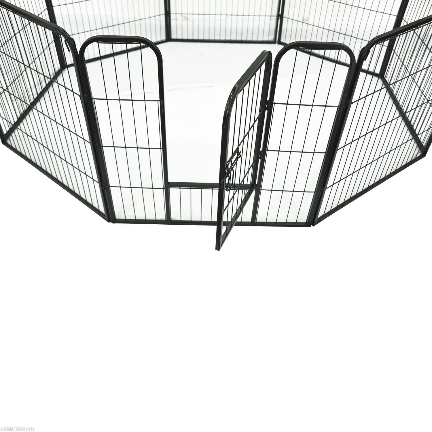Heavy-Duty-Pet-Playpen-Dog-Exercise-Pen-Cat-Fence-Black-8-Panel-24-034-32-034-39-4-034 thumbnail 12