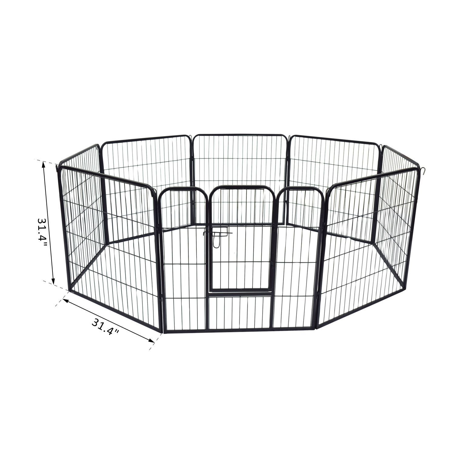 Heavy-Duty-Pet-Playpen-Dog-Exercise-Pen-Cat-Fence-Black-8-Panel-24-034-32-034-39-4-034 thumbnail 7