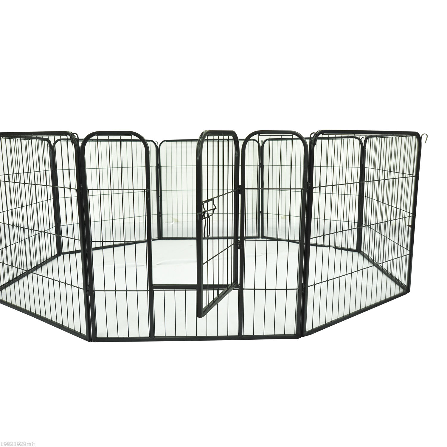 Heavy-Duty-Pet-Playpen-Dog-Exercise-Pen-Cat-Fence-Black-8-Panel-24-034-32-034-39-4-034 thumbnail 13