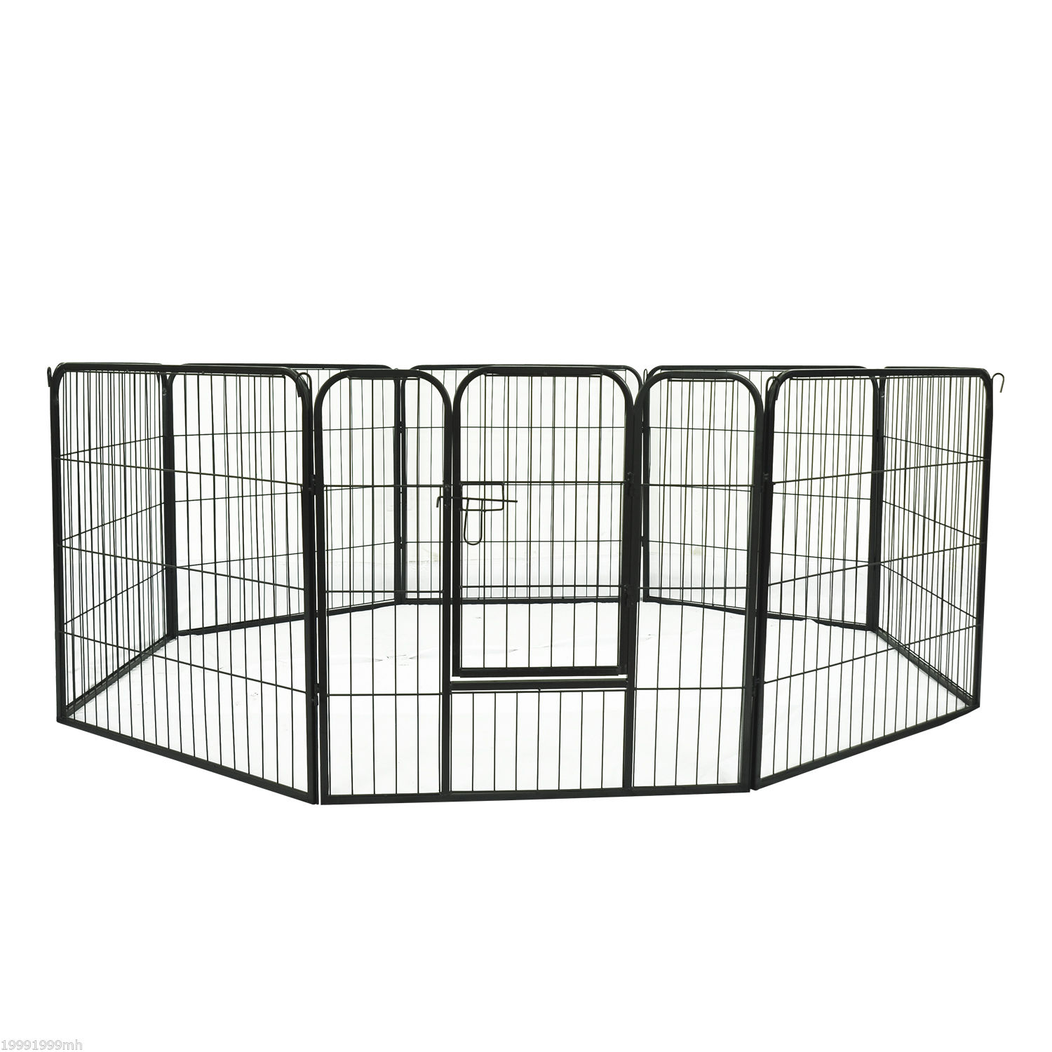 Heavy-Duty-Pet-Playpen-Dog-Exercise-Pen-Cat-Fence-Black-8-Panel-24-034-32-034-39-4-034 thumbnail 9