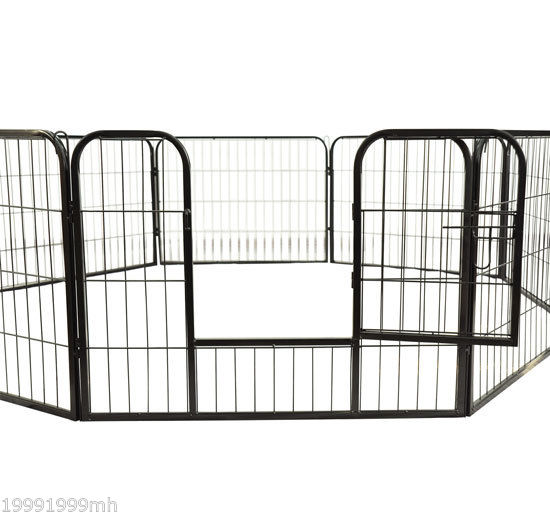 Heavy-Duty-Pet-Playpen-Dog-Exercise-Pen-Cat-Fence-Black-8-Panel-24-034-32-034-39-4-034 thumbnail 5
