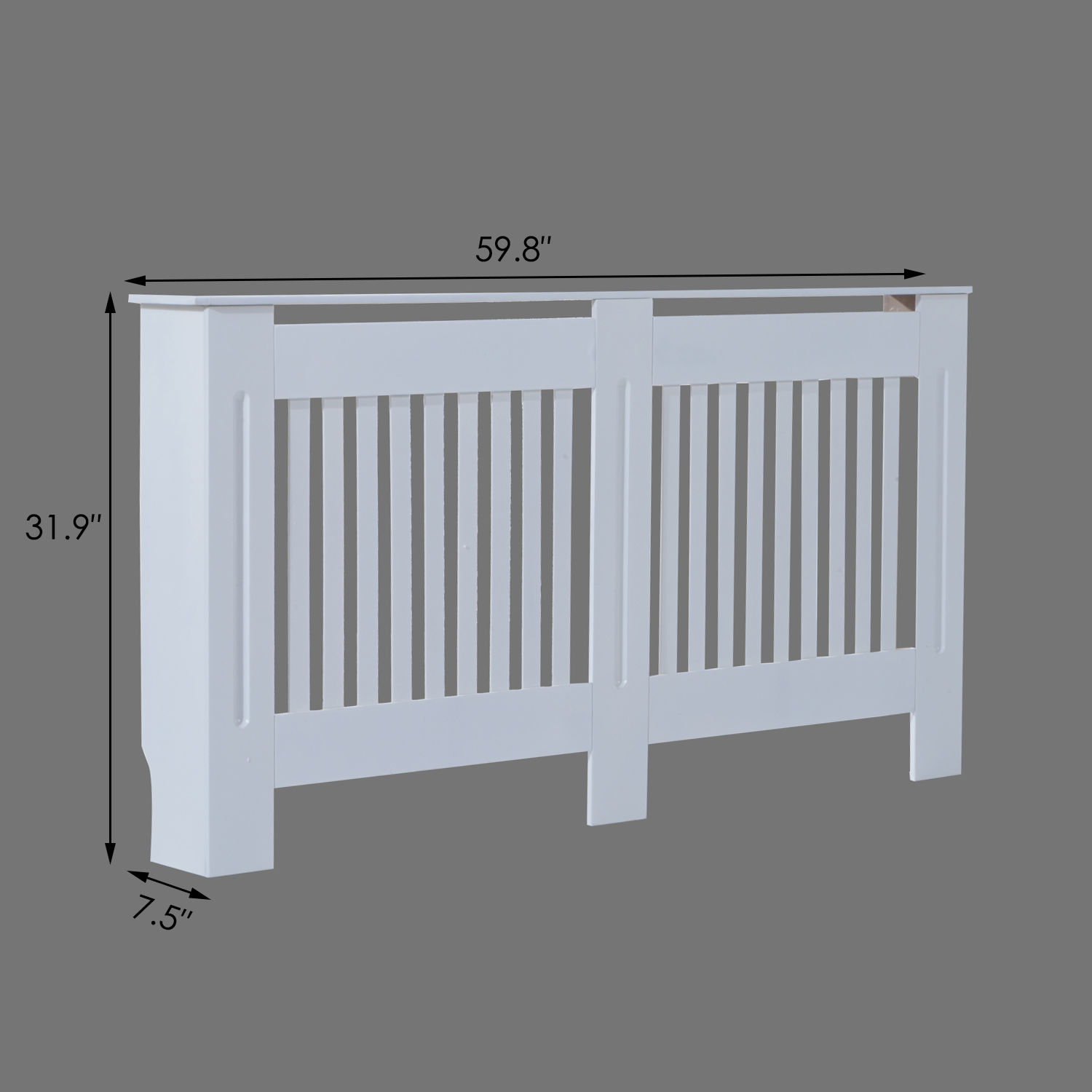 Radiator-Cover-Painted-Slatted-Cabinet-MDF-Vertical-Modern-Style-White-3-Sizes