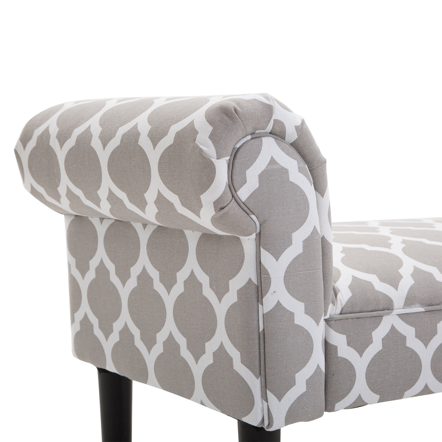 Elegant-Rolled-Arm-Bench-Bedside-End-of-Bed-Footstool-w-Arms-2-SIZE thumbnail 15