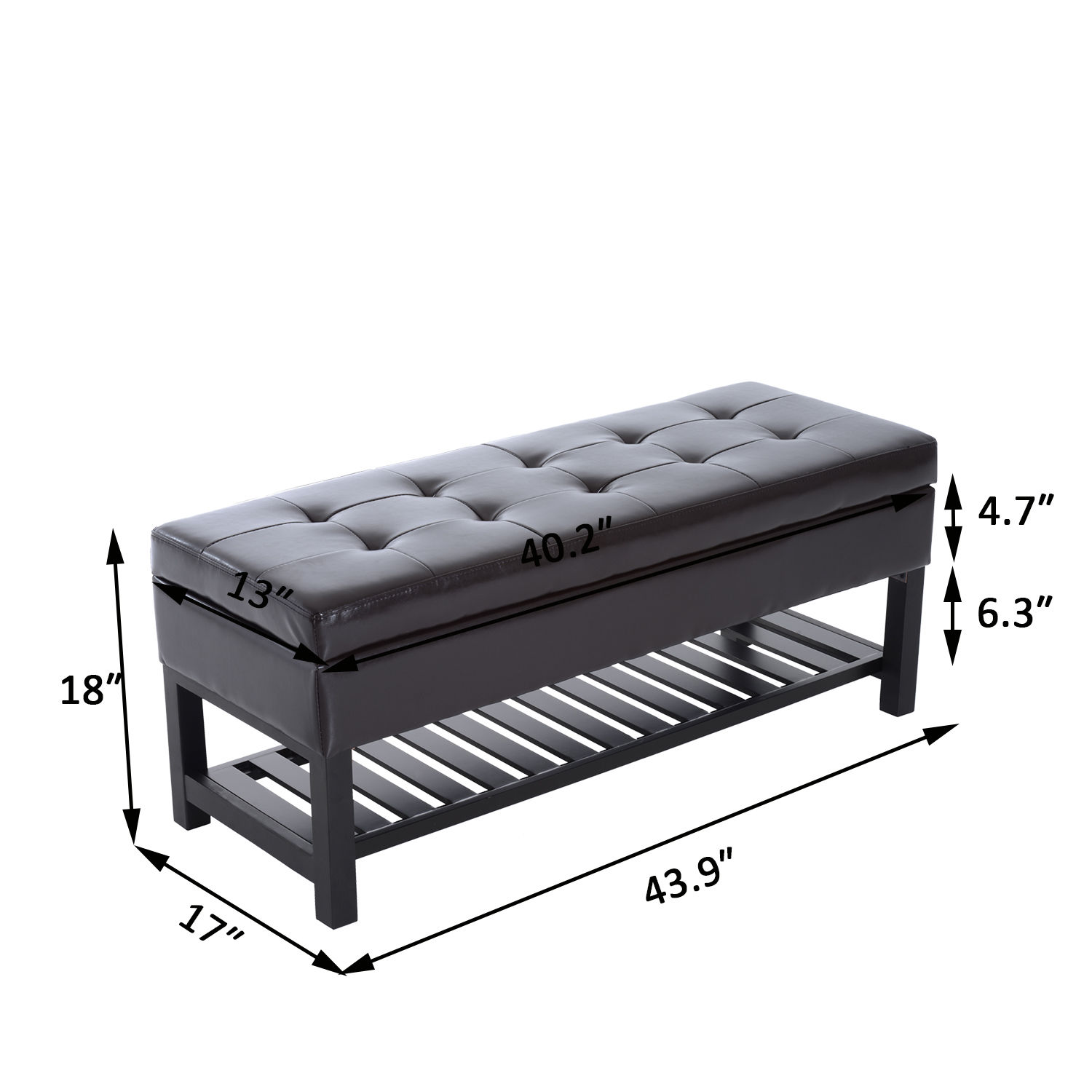 Excellent Details About Faux Leather Tufted Storage Bench Shoe Rack Shelf 3 Seater Ottoman Hallway Camellatalisay Diy Chair Ideas Camellatalisaycom