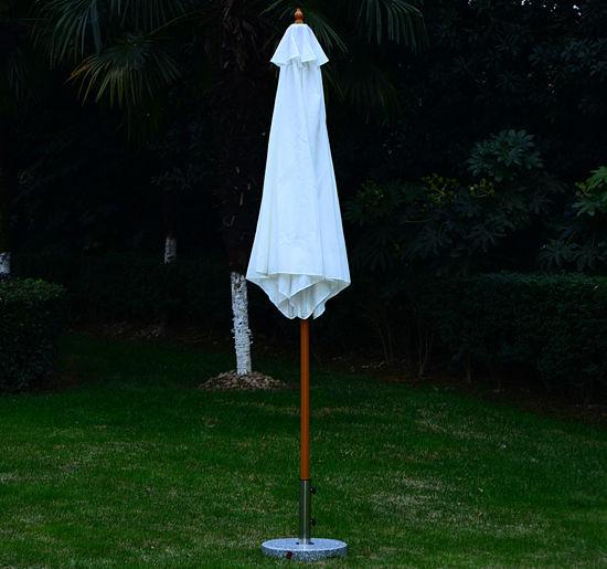 Summer-Clearance-9-039-x-8-039-H-Wooden-Round-Market-Patio-Sun-Umbrella-Garden-Parasol thumbnail 4