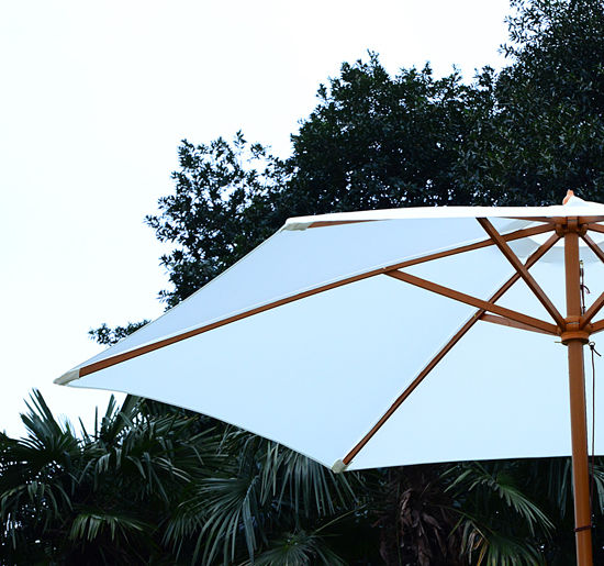 Summer-Clearance-9-039-x-8-039-H-Wooden-Round-Market-Patio-Sun-Umbrella-Garden-Parasol thumbnail 7