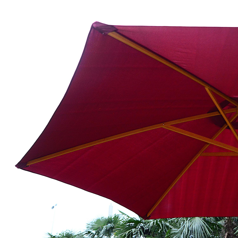 Summer-Clearance-9-039-x-8-039-H-Wooden-Round-Market-Patio-Sun-Umbrella-Garden-Parasol thumbnail 18