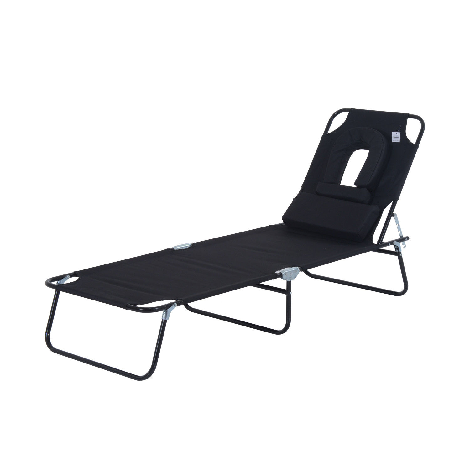 lounge sun heavy garden living adjustable outsunny reclining recliner gravity outdoor patio chair duty pillow folding lounger chaise beach with grey