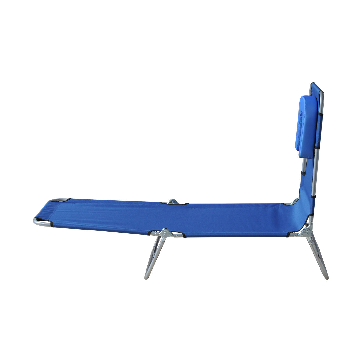Outsunny Travel Sunbed Folding Chaise Lounge Adjustable