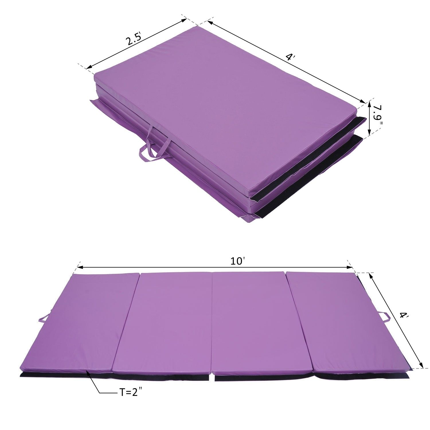 Portable-PU-Leather-Exercise-Gym-Mat-Stretching-Yoga-Sport-Tumbling-Pad-4-Panel